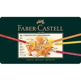 Faber Castell farge farge fargestift polychromos kartong boks 36 stykker