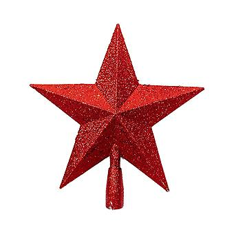 Christmas Tree Decoration Five-pointed Star Red 11x11.5CM