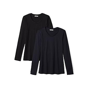 Marca - Daily Ritual Women's Leve 100% Supima Cotton Long-Sleev...