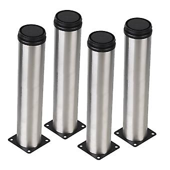 4pcs Stainless Steel Furniture Foot Leg Feet Adjustable 50*250mm