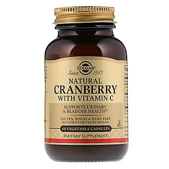 Solgar, Naturlig tranbär med C-vitamin, 60 grönsakskapslar
