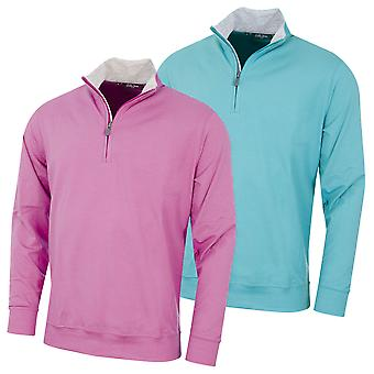 Bobby Jones Mens Liquid Cotton Stretch 1/4 Zip Golf Sweater