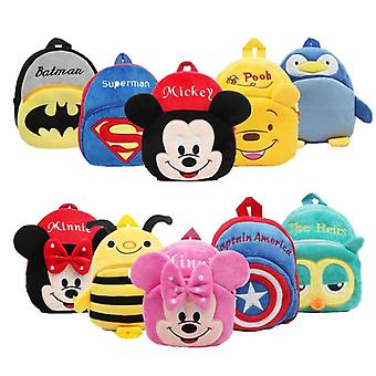 Disney Plush Backpack - Mickey Minnie Backpack Children's Gifts Outdoor Travel Cartoon Kindergarten Bag