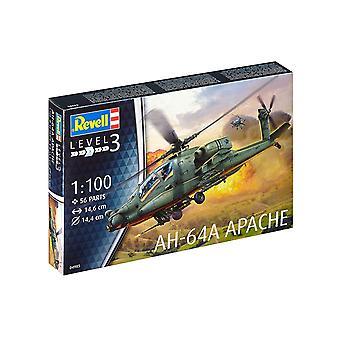 Revell 64985 AH-64A Apache 1:100 Schaal Plastic Model Kit