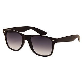 Sonnenbrille Unisex    matt schwarz mit grauer Linse (060 P)