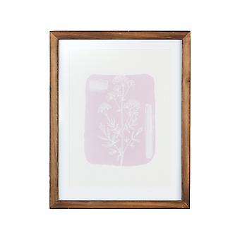 "11"" X 14"" Flower Framed Wall Art with Glass"