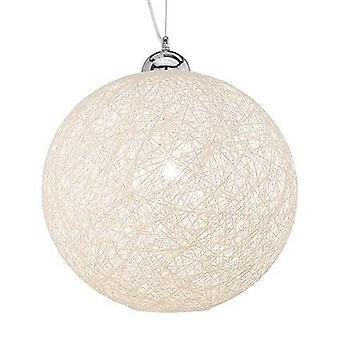 Cesta Lux ideal - 1 light gran techo globo colgante crema, E27
