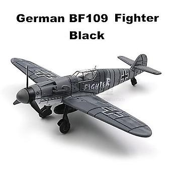 4d Diy Toys Fighter Assemble Blocks Building Model Airplane Military Model Arms Ww2 Germany Bf109 Uk Hurricane Fighter
