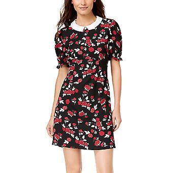 Maison Jules | Peter Pan Collar Rose Print Dress