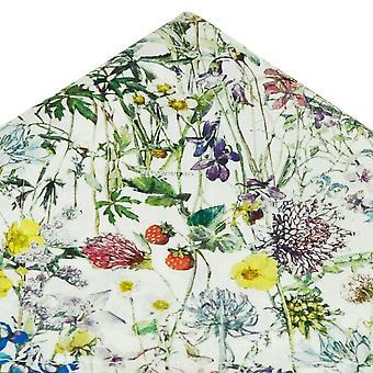 Solmiot Planet Van Buck Valkoinen Villit kukat Pocket Square tehty Liberty Fabric