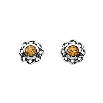 Heritage Mystic Birthstones November Twist Pendientes 3234NOV024