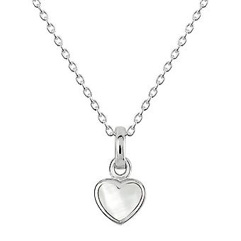 Dew Sterling Silver Dinky Mother Of Pearl Heart Pendant 90632MOP028