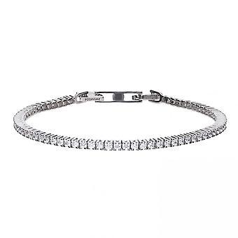 Diamonfire silver vit Cubic zirconia fin tennis armband B5096