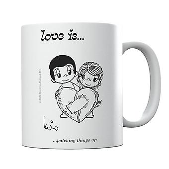 Love Is Patching Things Up Mug
