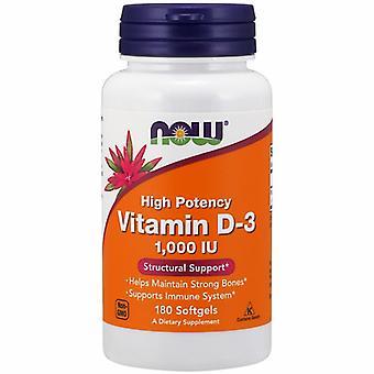 Now Foods ויטמין D-3 1000 ת'ו, 180 סוגלס