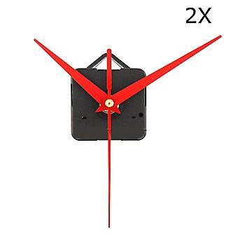 2kpl diy punainen kolmio kädet kvartsi seinäkellon liikemekanismi