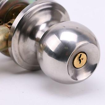 Rotation Round Door Knob Handle- Stainless Steel Entrance Passage Lock With Kep Set