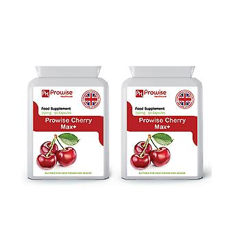 Cherry Max 750mg 90 Capsules Pack Of 2 | Suitable For Vegetarians & Vegans | Made In UK