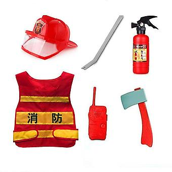 Children Firefighter Clothing Fireman Vest / Helmet / Water Gun / Hydrant Fire