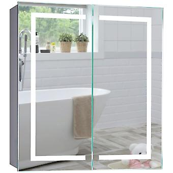 LED Bathroom Mirror Cabinet 70cm(H) x 65cm(W) x 15cm(D) C28