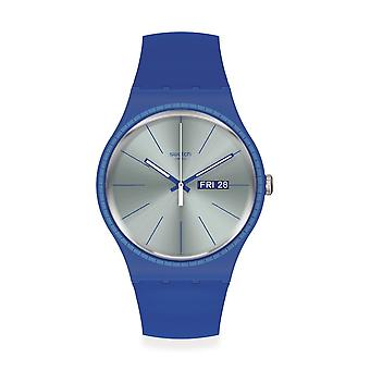 Swatch Suon714 Blå skenor silikon klocka