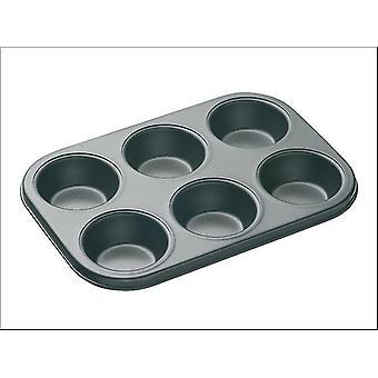 Kitchen Craft Master Class Non Stick Deep Baking Tray 6 hole KCMCHB6