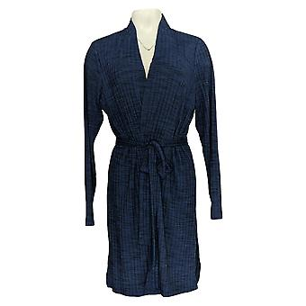 Lisa Rinna Collection Women's Sweater Rib Knit Duster Blue A290727
