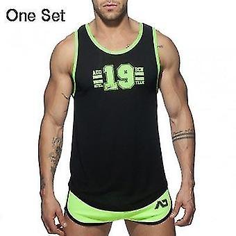 Nye Mænd & apos;s Badetøj Solid Beach Board Shorts Fitness Summer Beachwear Running