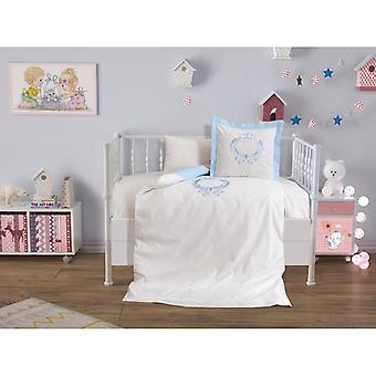 Dowry Wonderland Baby Crown, Lux Embroidered Duvet Cover Set