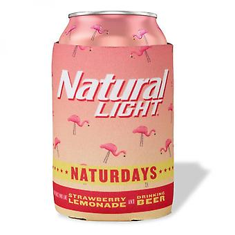 Natural Light Naturdays Pink Flamingo Can Cooler