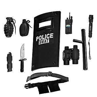Habiller l'Amérique tout en un seul jeu de rôle officier de police ensemble pour les enfants - comprend bouclier swat, réglable