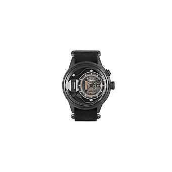 The Electricianz ZZ-A1C/01 The Dresscode Original Black & Silver Leather Watch