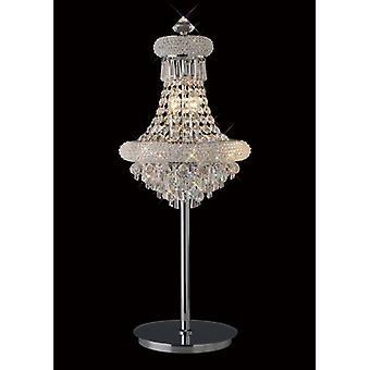 Tafellamp Alexetra 5 Bollen Gepolijst Chroom / Kristal