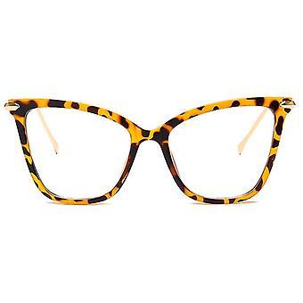 Óculos de olho de gato armações mulheres projetam óculos grandes transparentes óculos feminino claro