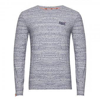 Superdry OL Vintage Emb LS T-Shirt Mist Blue Marl 3DH