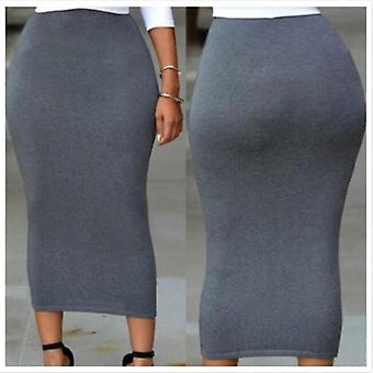 Mulheres muçulmanas's Sexy Skinny Pencil Thick Skirt Ladies Hips Wrap Bodycon High