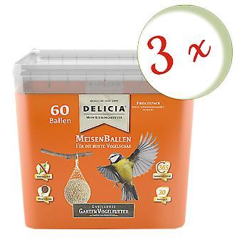 Sparset: 3 x FRUNOL DELICIA® Delicia® TitBallsen, 60 pieces