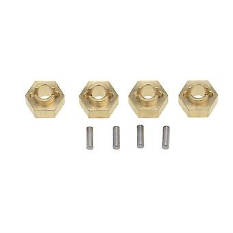 Brass Wheel Hex Mount 3mm Replacement for AXIAL SCX24 RC 1:24 Pack of 4
