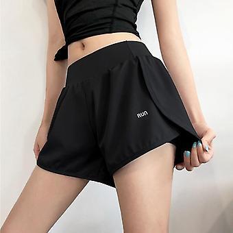 Hög midja Biker Kvinnor Fitness Anti Exponering Tennis Kjol / shorts