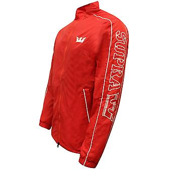 Supra Mens Wired Jacket Zip Up Lightweight Wind Breaker Red 102082 685 A38A