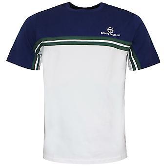 Sergio Tacchini Carey T-shirt Färg Block Topp Vit Blå 38143 219