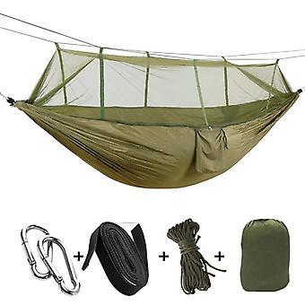 Udendørs Mosquito Net Faldskærm hængekøje Camping Hængende Sovende Seng Swing