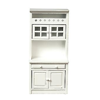 Dolls House Shelf Unit Cabinet Plain White Fitted Kitchen Furniture 1:12 Scale