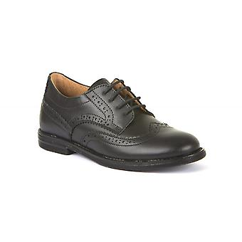 FRODDO Laced Brogue Style Shoe Black