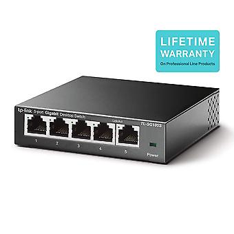 Switch/hub gigabit ethernet desktop a 5 porte TP-link tl-sg105s, splitter Ethernet, plug & play, nessun con