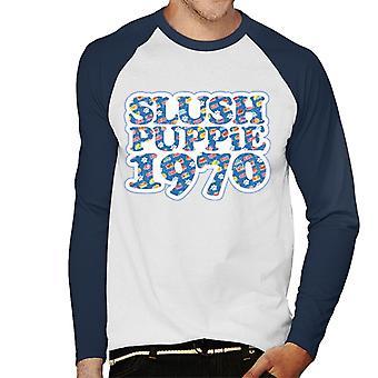 Slush Puppie Retro 1970 Men's Baseball Pitkähihainen T-paita