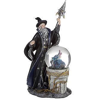 Spirit of the Sorcerer - Ice Dragon Wizard Snow Globe Waterball