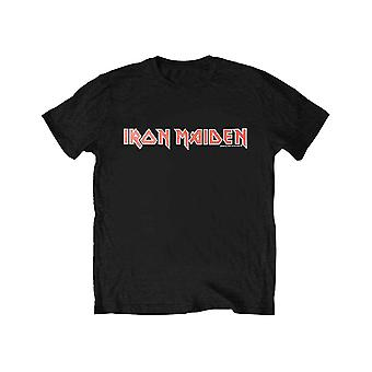 Iron Maiden Kids T Shirt Classic Band Logo new Official Black Ages 5-14 yrs