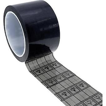 Quadrios ESD teippi 1 kpl Musta, Läpinäkyvä (L x W) 33 m x 19 mm