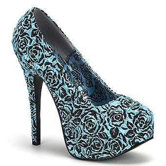 Bordello Women's Shoes TEEZE-39 B.Blue Floral Satin